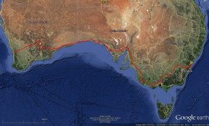 TNS Aust 2nd leg 13 Sep 2013 - GoogleEarth